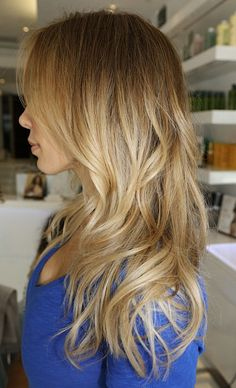 beautifully blended baby blonde highlights