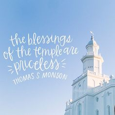 The blessings of the temple are priceless.