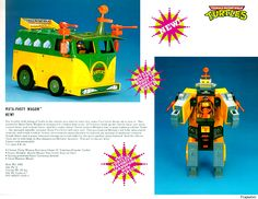 The Raddest 'Teenage Mutant Ninja Turtles' Toy Never Made: A Transforming Party Wagon Robot