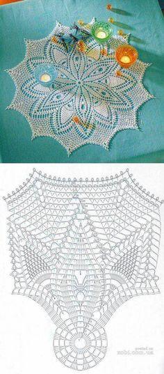 In progress Crochet Doily Diagram, Crochet Flower Patterns, Filet Crochet, Crochet Motif, Crochet Designs, Lampe Crochet, Crochet Art, Thread Crochet, Vintage Crochet