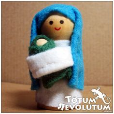 Belén de madera y fieltro... #Nativity #Wood #Felt #Christmas