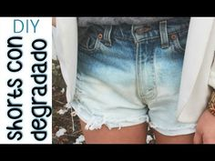 DIY Shorts con degradado. | DIY Shorts Degrade (Vídeo corto)