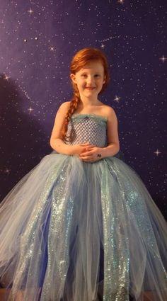 Frozen Elsa Tutu Dress by BlueFairyBoutique on Etsy, $35.00