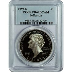 1995-P Cycling Olympic Silver Commemorative Dollar PR69DCAM PCGS Proof 69 DC
