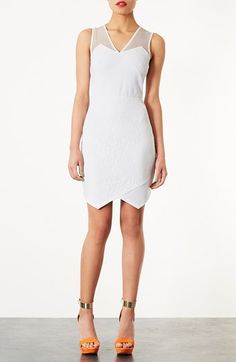 So geometric. Topshop Lace Appliqué Dress
