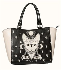 BASTET EGYPTIAN CAT TOTE BAG PURSE by Banned Apparel. This would make a cool shopping bag as well.