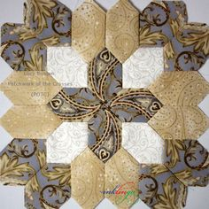 """Inklingo Patchwork of the Crosses POTC - """"No Waste Fussy Cutting"""" with any English Paper Piecing!"""