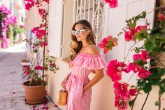 Gal Meets Glam Grimaud & St. Tropez, France Lisa Marie Fernandez dress, Mark Cross bag & Raen sunglasses