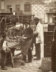 The Street Locksmith    From 'Street Life in London', 1877, by John Thomson and Adolphe Smith: