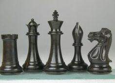 Weighted Staunton Chess Game Set Ebony Wood Piece 4Q. http://www.chessbazaar.com/chess-pieces/wooden-chess-pieces/weighted-staunton-chess-game-set-ebony-wood-piece-4q.html