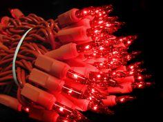 White Wire Red LED Craft LIghts. | Valentine\'s Day Lights | Pinterest