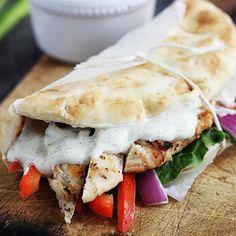 EASY Chicken Gyros with Tzatziki Sauce!