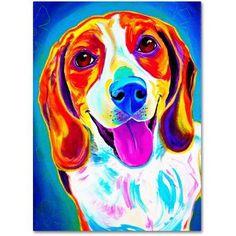 Trademark Fine Art Lucy Canvas Art by DawgArt, Size: 14 x 19, Multicolor