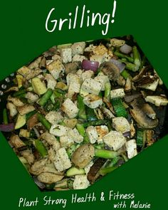 Perfect evening for grilling...tofu, shitake mushrooms, zucchini, asparagus, red onion, garlic, scallions, hot peppers with a no oil tahini dressing marinade...yummm What's your favorite food to grill? #grilling #tofu #shrooms2grow #veggies #oilfree #cleaneating #plantstronghealthandfitnesswithmelanie