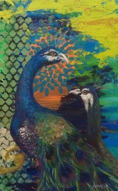 """Peacocks"" by Laura Gammons"