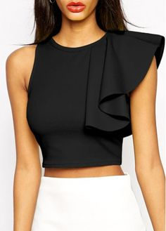 women's blouses, cheap blouses for women with wholesale price, cheap blouses online store, Worldwide Delivery No Ninimum Order! Cropped Tops, Black Crop Tops, Sleeveless Crop Top, Crop Blouse, Crop Tops Online, Trendy Dresses, Fall Dresses, Long Dresses, Prom Dresses