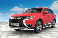 Metec CityGuard til Mitsubishi Outlander FrontGuard. Mitsubishi Outlander, Vans, Vehicles, Van, Rolling Stock, Vehicle