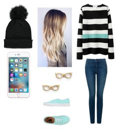 """""""Untitled #98"""" by burusa2 ❤ liked on Polyvore featuring beauty, Forever 21, NYDJ, Kate Spade and Vans"""