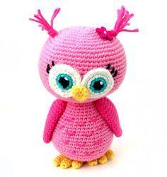 Free Crochet Pattern: Pink Owl Amigurumi Doll   HubPages