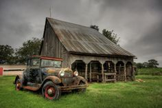 10 Vintage Cars And Truck In Old Barns