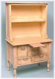 Great model and instructions for a kitchen hutch | Source: Joann L. Swanson's DYI DOLLHOUSE MINIATURES