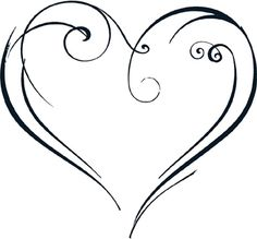 This whimsical heart design is one of our popular art designs. It is beautiful on its own, or as an accent to a monogram or phrase. Barbed Wire Art, Eyebrow Stamp, Music Drawings, Monogram Wall, Popular Art, Painted Wine Glasses, Heart Art, Cute Tattoos, Doodle Art