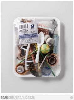 Catch of the Day: Plastic Surprise - Galveston Beach, TX To bring some attention to ocean pollution and just how disgusting it really is, Surfrider Foundation teamed up with Satchi & Satchi LA to. Ocean Pollution, Plastic Pollution, Creative Advertising, Advertising Agency, Advertising Design, Trash Art, Plastic Waste, Plastic Bags, Environmental Issues