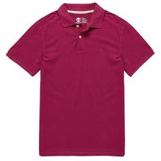 Timberland - Polo SS Millers River Homme - Coupe Slim - beet red