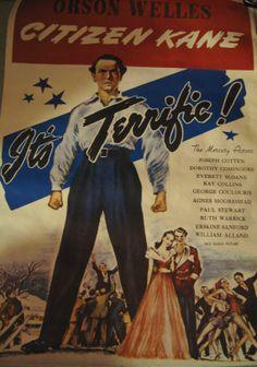 Vintage Citizen Kane Poster Orson Welles It's Terrific Celestial Arts 1971