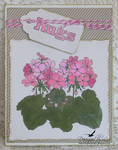 Sparkle N Sprinkle Geraniums stamp