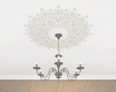 Ceiling Stencil medallion. Custom size. di ArtLabNY su Etsy https://www.etsy.com/it/listing/226480028/ceiling-stencil-medallion-custom-size