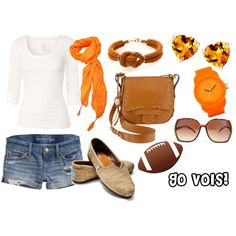 Tennessee Football Game Day outfit - because as my husband knows, I'm a closet Vols fan!!