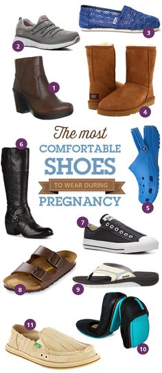 The top rated shoes for comfort from Pregnant Chicken readers.