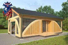 SunShine-Glulam-Timber Frame- 5.5m x 9.0m Garage. Designed by www.logcabins.lv  (1)