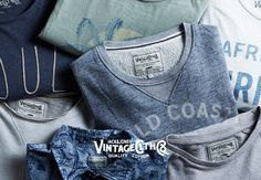 Authentic prints and characteristic fading effects from JACK & JONES VINTAGE CLOTHING