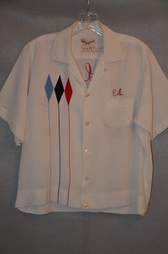 Vintage Mens Bowling Shirt by hcvintage on Etsy, $120.00