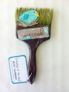 """Altered Brush project"" - more brushes to share Angie reece brush-Angie reece brush-""Altered Brush project"" - more brushes to share Angie reece brush-Angie reece brush- Paint Brush Art, Paint Brushes, Diy And Crafts, Arts And Crafts, Arte Country, Decoupage, Junk Art, Recycled Art, Handmade Home"