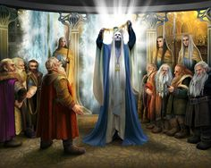 Elu Thingol and the Dwarves by Steamey