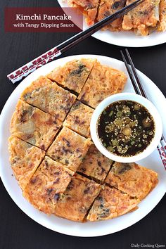 Turn your kimchi into delicious kimchi pancake with my easy recipe. I am also sharing a recipe for tangy dipping sauce that goes well with Korean pancakes.