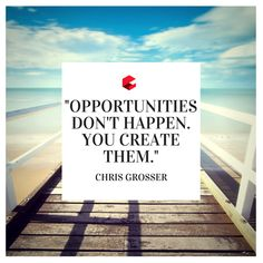 """""""Opportunities don't happen, you create them. Quote Of The Week, Letter Board, Opportunity, Lettering, Thoughts, Shit Happens, Motivation, Create, Quotes"""