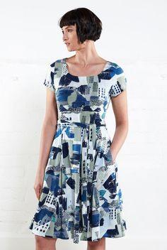 FERN dámské letní šaty z biobavlny 30denni garance vraceni zbozi logo -  fair trade oblečení z b5da327c059