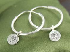 Hill Tribe Silver Lotus Hoops,  100% made Fair Trade. www.globalgroovelife.com