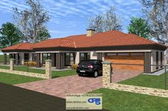 House Plan No W2286 Single Storey House Plans, African Traditional Wedding Dress, House Plans South Africa, All Design, House Design, Bikini For Curves, Building Costs, Architectural House Plans, My Dream Home