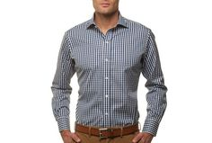 The Navy Parker Gingham Spread Slim Fit