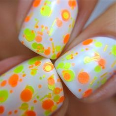Citrus Twist  Polka Dot-NEON-Custom-Blended Indie by PolishMeSilly