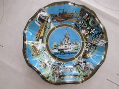 Disney World Glass collector plate