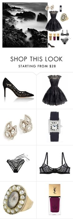 """""""""""I am longing to be with you, and by the sea, where we can talk together freely and build our castles in the air."""""""" by janeundone on Polyvore featuring Gianvito Rossi, Ben-Amun, Cartier, L'Agent By Agent Provocateur, Yves Saint Laurent and L'Oréal Paris"""