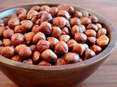 How To Easily Peel (Blanch) Hazelnuts by WickedGoodKitchen.com ~ The simplest way to blanch or peel hazelnuts. You will never use any other way! #best #kitchen #tips