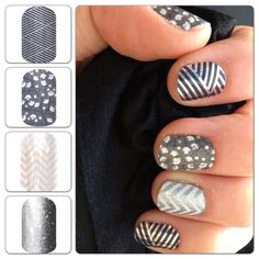 Love this Wintery combo!! www.hollylaine.jamberrynails.net