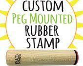 Custom Rubber Stamp - Logo - Art - Made By - 3/4 Peg Stamp, customer appreciation stamp, frequent buyer card, bespoke ink stamper